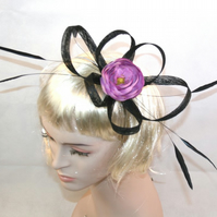 Black Fascinator Pink Fascinator Black Wedding Fascinator Ascot Fascinator