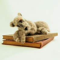 Needlefelted Deerhound Lurcher