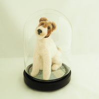 Fox Terrier Under Glass Dome