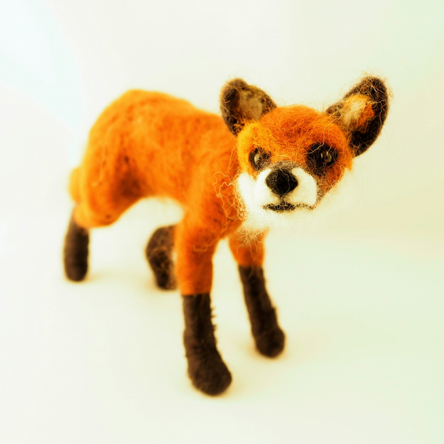 Needle Felted Standing Fox