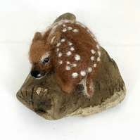 Small Needle Felted Fawn