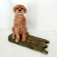 Needle Felted Apricot Cockapoo