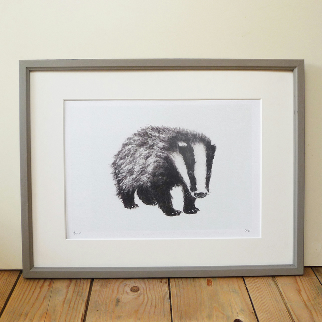 Signed Boris Badger Print