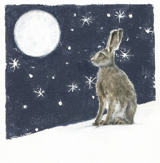 Spring is in the Hare Greeting Card
