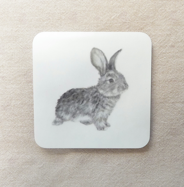 Daisy Rabbit Coaster