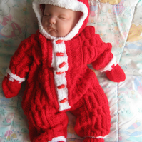 Gorgeous hand knitted onesie all over pattern, PRICE SLASHED