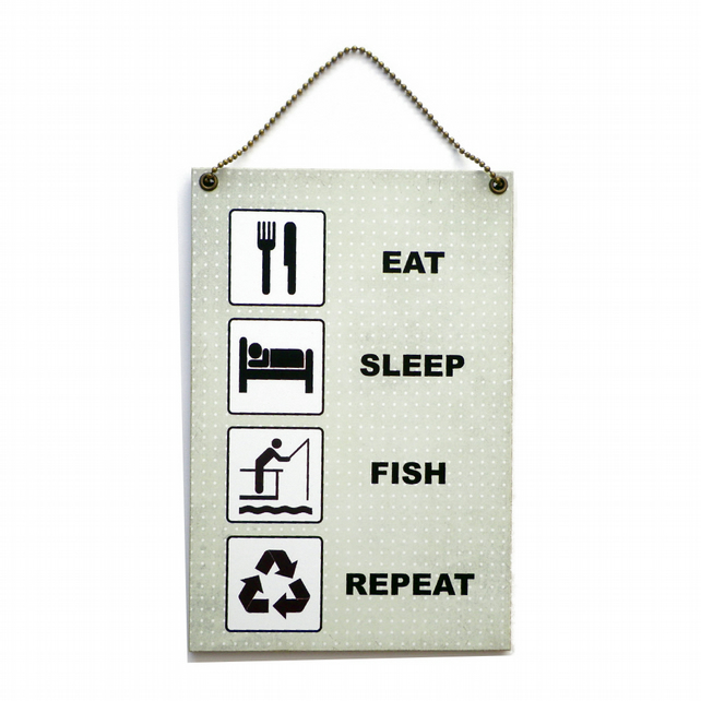 Handmade Wooden ' Eat Sleep Fish Repeat ' Home Sign 411