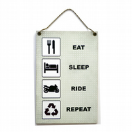 Handmade Wooden ' Eat Sleep Ride Repeat ' Home Sign 407