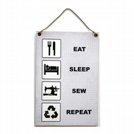 Handmade Wooden ' Eat Sleep Sew Repeat ' Home Sign 408