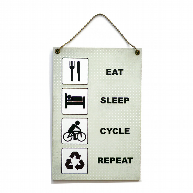 Handmade Wooden ' Eat Sleep Cycle Repeat ' Home Sign 413
