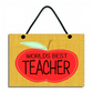 Worlds Best Teacher Handmade Wooden Teachers Gift Home Sign 611