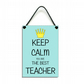 Keep Calm You Are The Best Teacher Fun Gift Handmade Home Sign 613