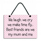 We Laugh We Cry Best Friends Are We My Mum and Me Handmade Home Sign 599