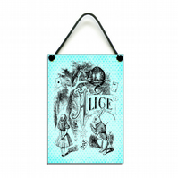 Handmade Wooden Alice Picture Plaque Home Sign 066