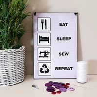 Eat Sleep Sew Repeat Sewing Room Plaque Home Sign 408