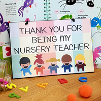 Thank You For Being My Nursery Teacher Gift Handmade Home Sign Plaque 614