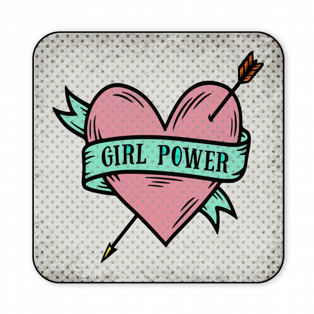 Fun Wooden Coaster Girl Power Friend Gift CO28