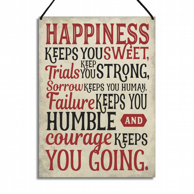Motivational Plaque Happiness Keeps You Sweet Home Sign GA010