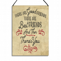 Friendship Gift There Are Good Friends There Are Best Friends Plaque GA054
