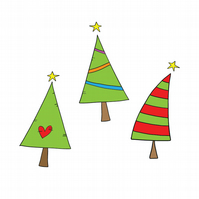 3 Trees Christmas Card - Traditional