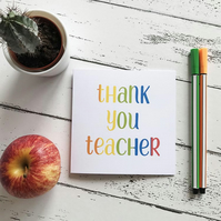 thank you teacher greetings card