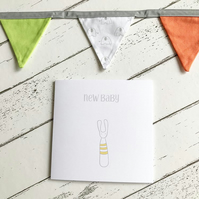New Baby Yellow Bunny Card