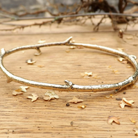 Brass Twig Bangle