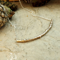 Brass Twig Necklace