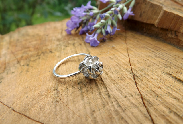 Silver Pinecone Ring