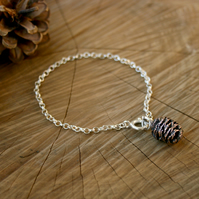 Copper Pinecone Bracelet