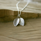 Silver Twin Leaf Necklace