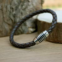 Men's Brown Leather Apollo Bracelet