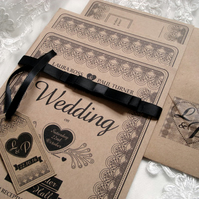 A Lacey Number Wedding Invitation Sample Set