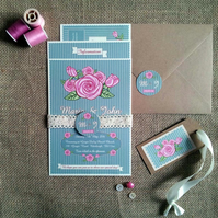 Vintage Rose Wedding Invitation Sample