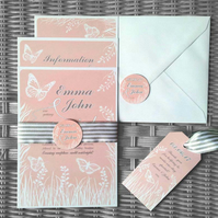 """It's a Beautiful Day"" Wedding Invitation Sample"