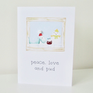 Loch Ness monster 'peace, love and pud' Christmas card