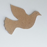 Kraft Bird Dove Drop Earrings Display Stand Cards Jewellery Making