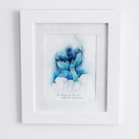 Original Every Tail Mermaid framed Watercolour painting