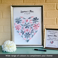 Wedding Guest Book, alternative guest book, modern guest book, paper hearts
