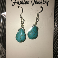 Twisted Turquoise Earrings.