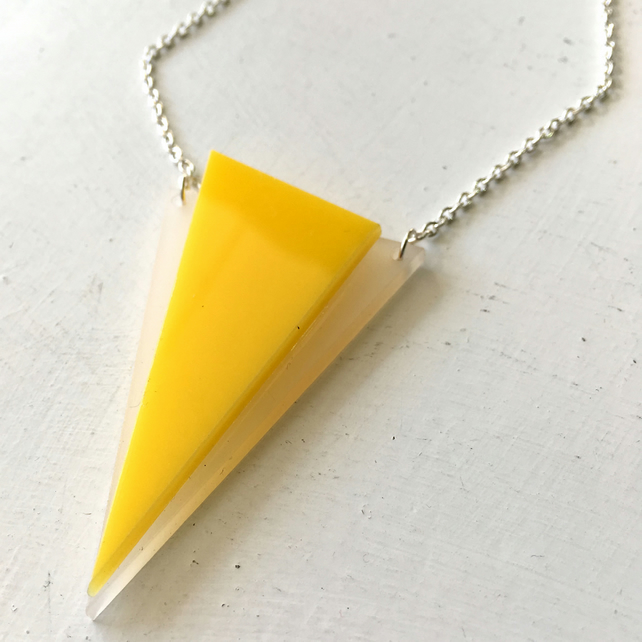 Yellow Triangle Necklace