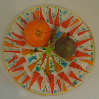"""Autumn colours"" plate"