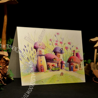 Lavender & Pinks Windmill - Mushroom Town Collection