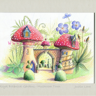 Royal Botanical Gardens -  signed & titled print 10x8 inch -self frame