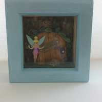 Fairy door shadow box
