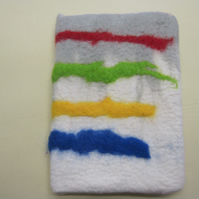 Hand felted notebook