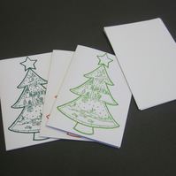 Christmas Tree Printed Card