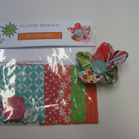 Fabric Flower Brooch Sewing Kit