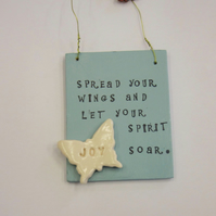 spread your wings butterfly plaque