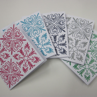 Eastern tile Christmas Cards